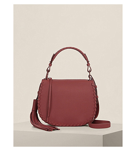 ALLSAINTS Mori lea shoulder bag (Berry+red