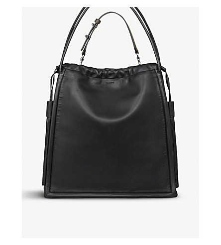 ALLSAINTS Dive North South leather tote bag (Black