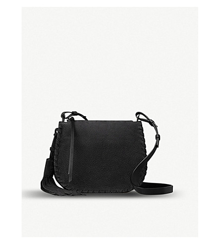 ALLSAINTS Mori Lea leather Crossbody bag (Black