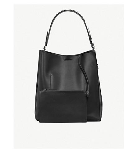 ALLSAINTS Suzi studded leather tote bag (Black