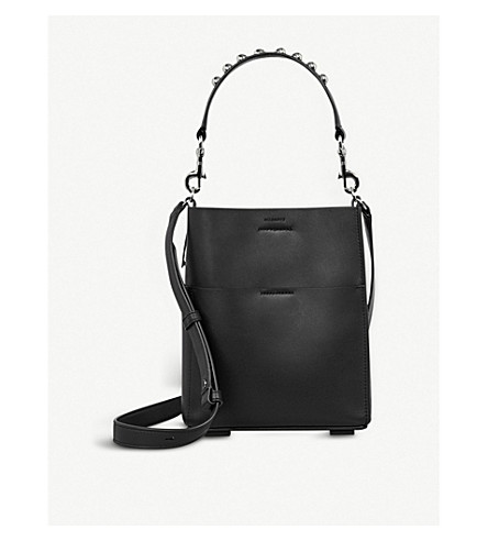 ALLSAINTS Suzi leather mini tote bag (Black