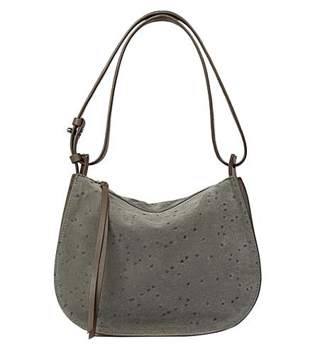ALLSAINTS Echo Mini Hobo suede bag (Smoke+grey