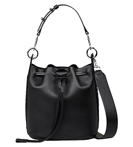 ALLSAINTS Ray leather bucket bag (Black