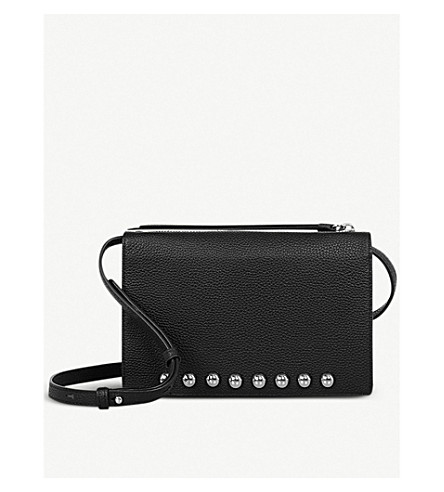 ALLSAINTS Suzi leather cross-body bag (Black