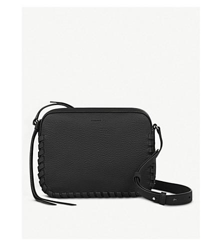 ALLSAINTS Kepi whipstitch leather cross-body bag (Black