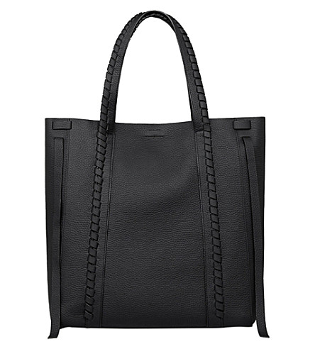 ALLSAINTS Ray leather tote bag (Black