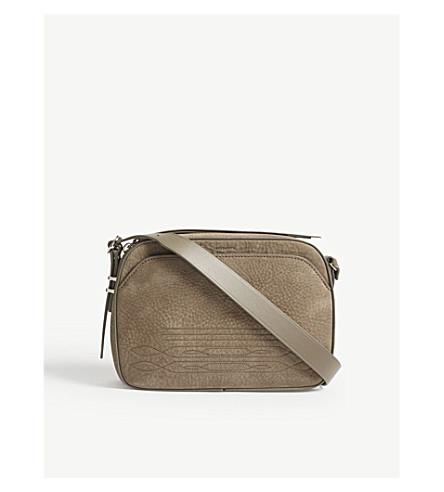 ALLSAINTS Cooper leather camera bag (Ash+grey
