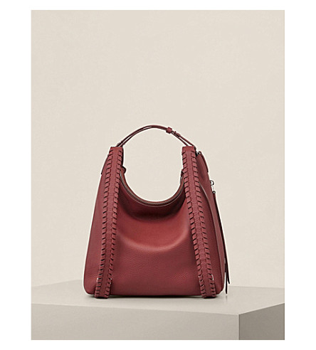 ALLSAINTS Kita small leather backpack (Berry+red