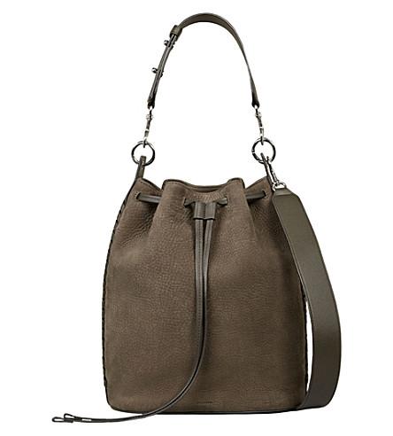 ALLSAINTS Ray leather bucket bag (Mink+grey