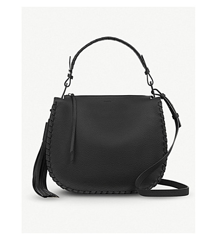 ALLSAINTS Mori leather hobo bag (Black