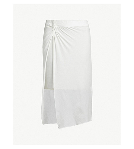 ALLSAINTS Sur cotton skirt (Chalk+white