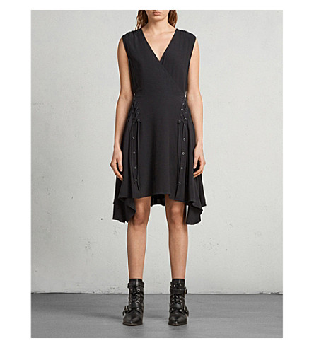 ALLSAINTS Miller crepe dress (Black
