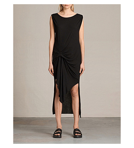 ALLSAINTS Riviera tavi wool-crepe dress (Black