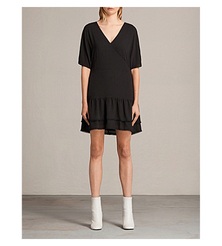 ALLSAINTS Marley woven dress (Black