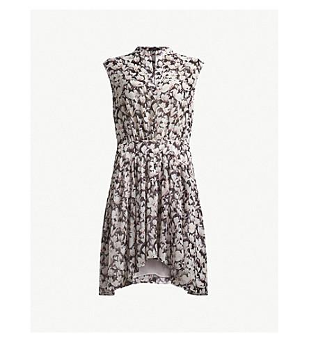 ALLSAINTS Victoria floral-print woven dress (Dusty+pink