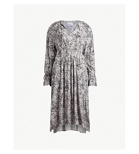 ALLSAINTS Lavete cold-shoulder printed woven midi dress (White