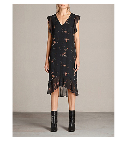 ALLSAINTS Dalem chiffon dress (Black