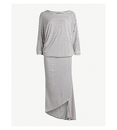 ALLSAINTS Cadie striped jersey dress (Ecru+white/bla