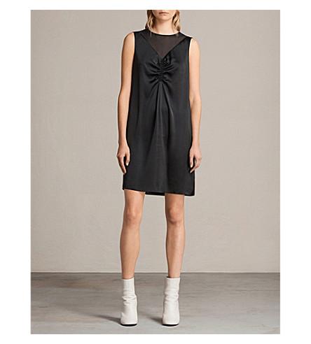 ALLSAINTS 丝绸连衣裙 (黑色