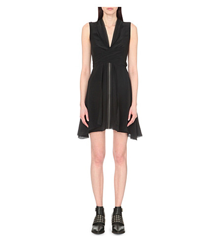 ALLSAINTS Jayda silk dress (Black