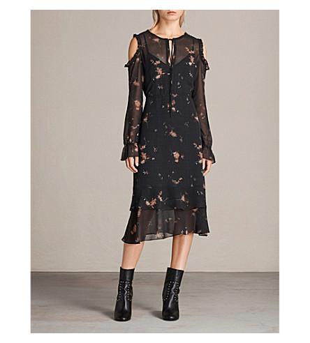 ALLSAINTS Marissa chiffon dress (Black