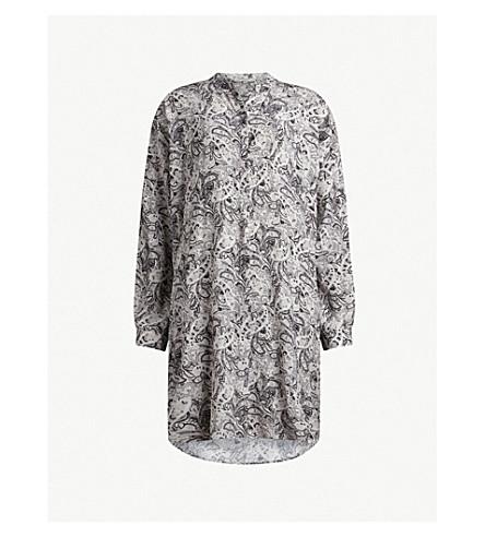 ALLSAINTS Cayla printed crepe shirt dress (White