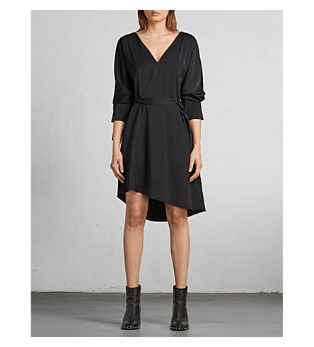 ALLSAINTS Sia woven dress (Black