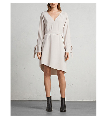 ALLSAINTS Sia woven dress Pale pink Extremely Cheap Price 1icdf8x