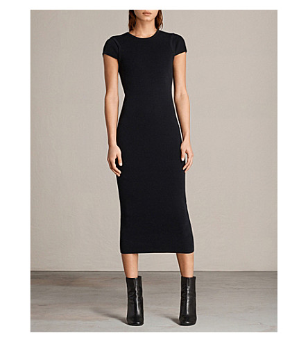 ALLSAINTS Anya knitted dress (Ink+blue