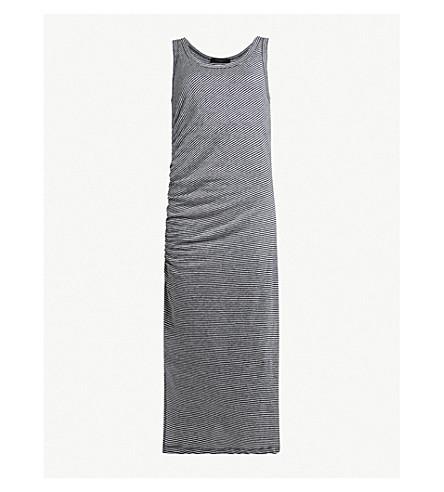 ALLSAINTS 蒂娜平纹针织棉连衣裙 (海军/粉笔 +