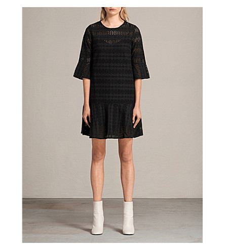 ALLSAINTS Dakota broderie anglaise cotton dress (Black