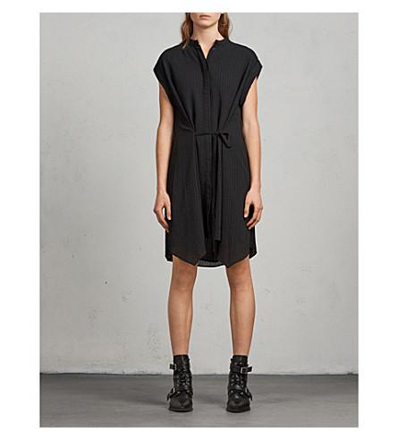 ALLSAINTS Meda self-tie crepe dress (Black
