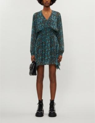 Nichola graphic-print crepe dress