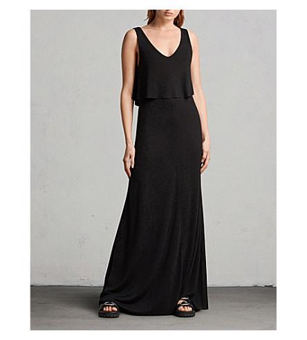 ALLSAINTS Helena woven maxi dress (Black
