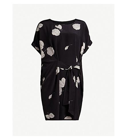 ALLSAINTS Sonny Rodin silk tied-front mini dress (Black
