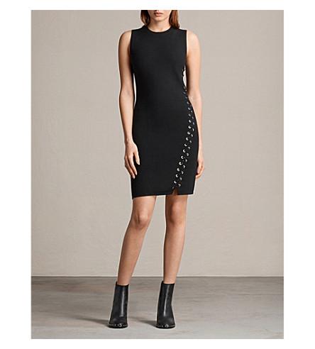 ALLSAINTS Amara sleeveless knitted mini dress (Black