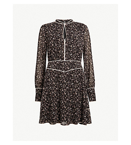 ALLSAINTS Kay Pepper chiffon mini dress (Black