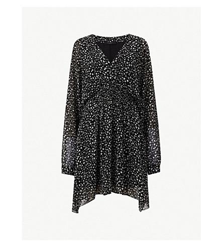 ALLSAINTS Nichola Pippa floral print crepe dress (Black
