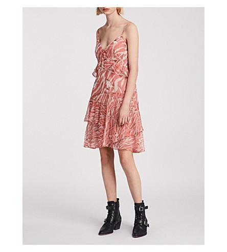 ALLSAINTS Enya Kazuno floral-print dress (Red