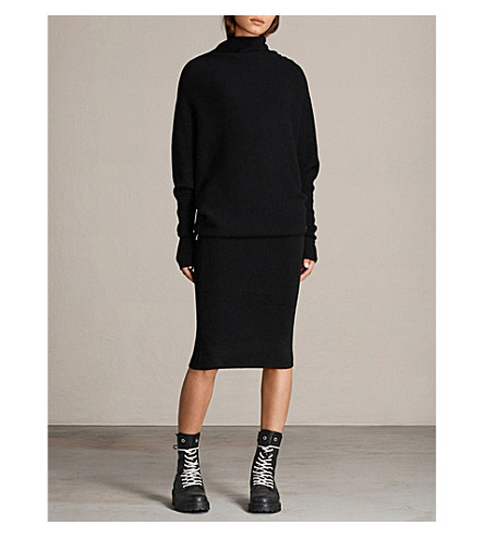 ALLSAINTS Ridley wool and cashmere-blend dress (Black