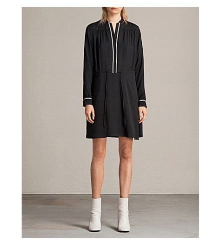 ALLSAINTS Rica woven dress (Black