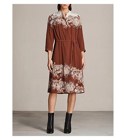 ALLSAINTS Vera Clement silk dress (Rust