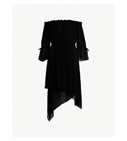 ALLSAINTS 瑞娜绉连衣裙 (黑色