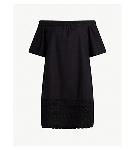 ALLSAINTS Trixi 脱肩礼服 (黑色