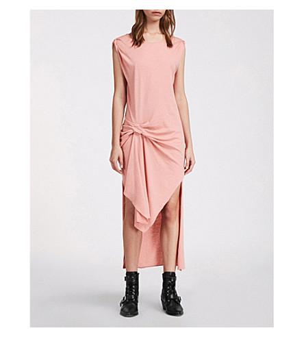 vestido Ida rosa de jersey Riviera ALLSAINTS algodón de melocotón Eq1pxB5wf