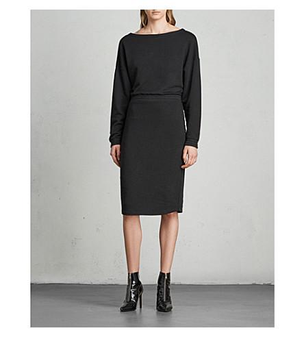 ALLSAINTS Chrissy cotton-blend jumper dress (Jet+black