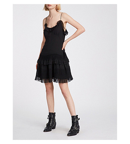 ALLSAINTS Sanse ruffled crepe dress (Black