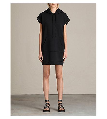 ALLSAINTS Mod hooded woven dress (Black