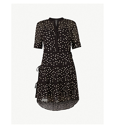 ALLSAINTS Picolina tiered dress (Black