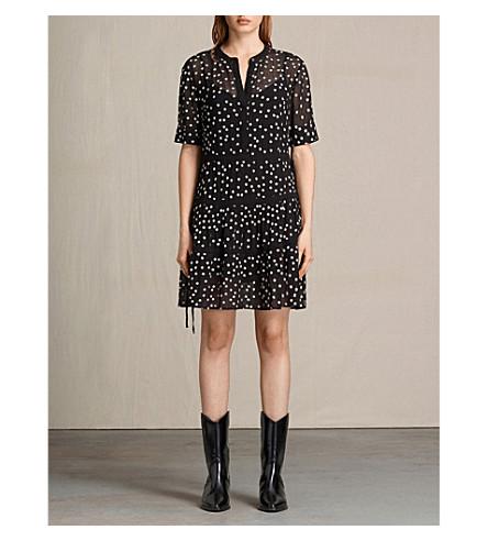 ALLSAINTS Picolina tiered dress (Black